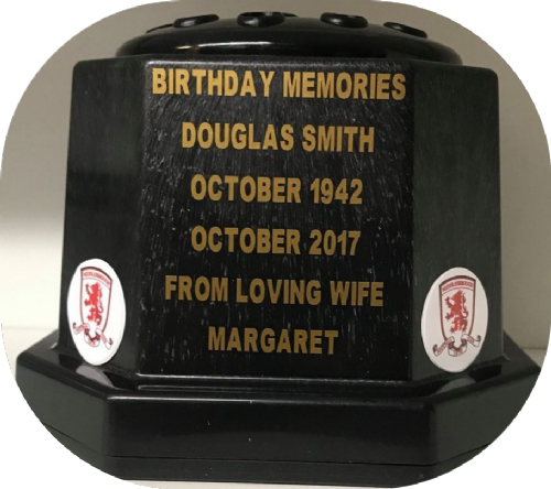 Middlesbrough F. C. football personalised Grave pot